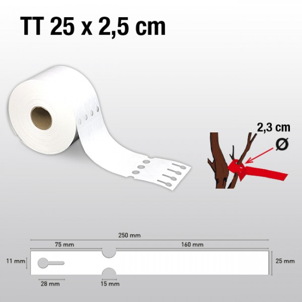 Schlaufenetiketten aus Tyvek TT25250