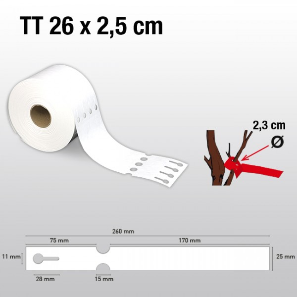 Schlaufenetiketten für Thermotransferdrucker TT25260 HDPE 200µ