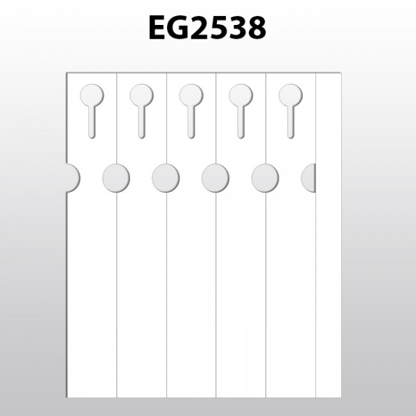 Schlaufenetiketten für Laserdrucker aus Polyester EG2538