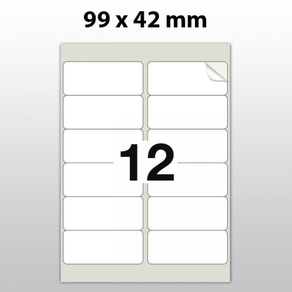 Klebeetiketten aus Polyester für Laserdrucker LA99420