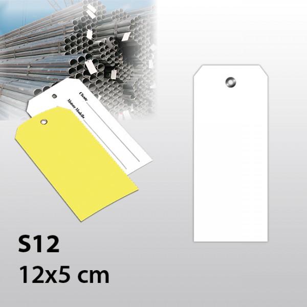 S12-Warenanhänger aus Kunststoff 12x5 cm