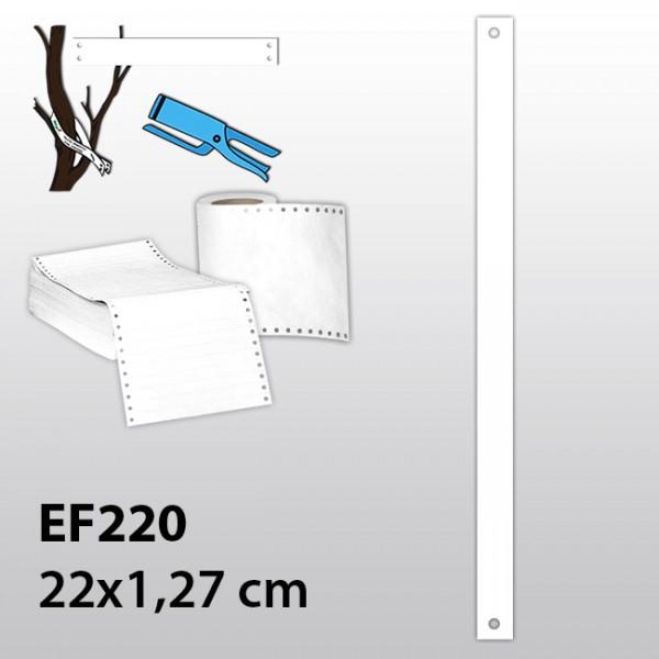 Streifen-Etiketten aus Tyvek EF220
