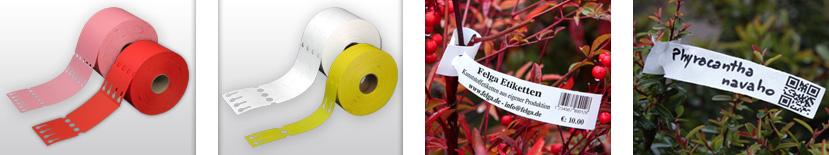 wetterfeste-Etiketten aus Kunststoff