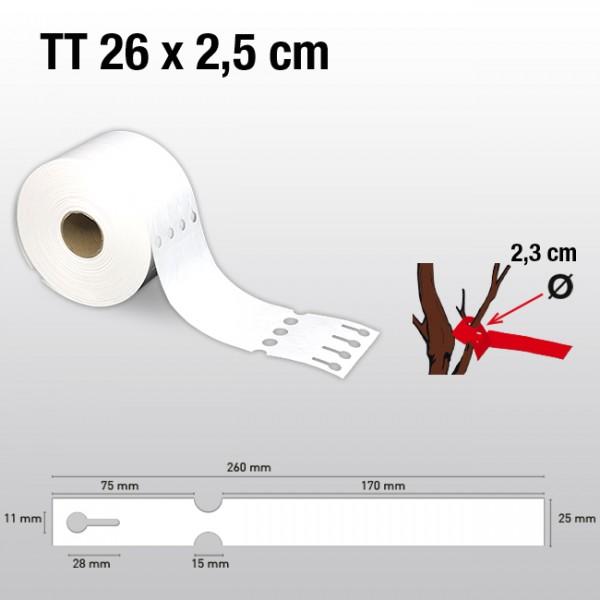 Schlaufenetiketten für Thermotransferdrucker TT25260  HDPE 150µ
