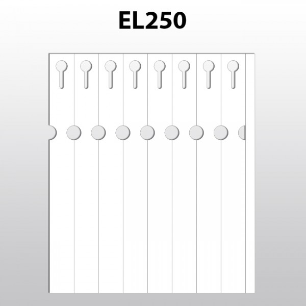 Schlaufenetiketten für Laserdrucker aus Polyester EL250