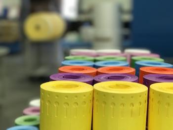 Tyvek-Schlaufenetiketten für Nadeldrucker