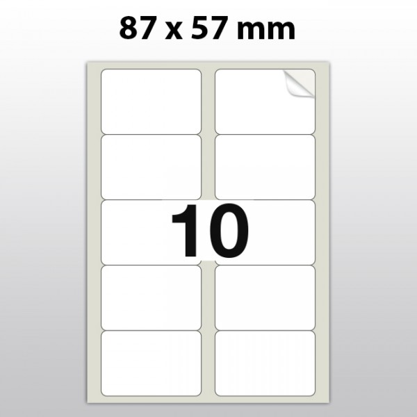 Klebeetiketten aus Polyester für Laserdrucker LA87570