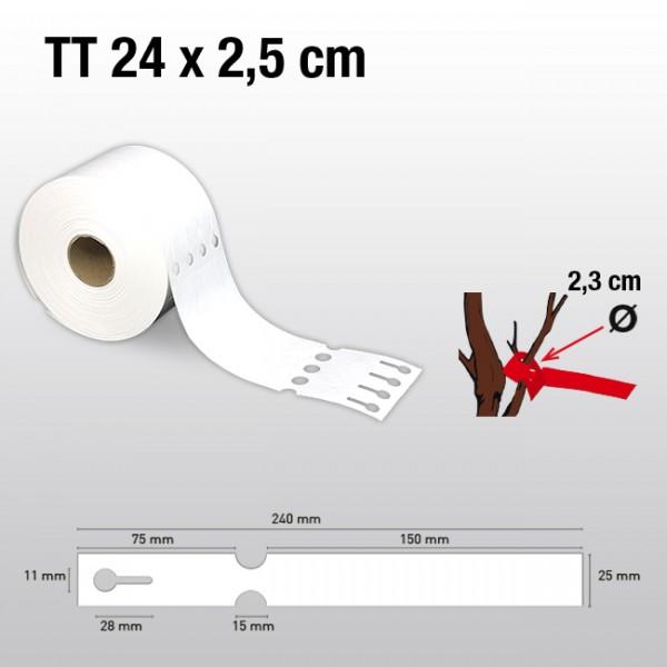 Schlaufenetiketten für Thermotransferdrucker TT25240  HDPE 150µ