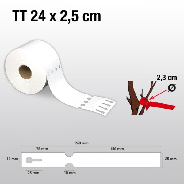 Schlaufenetiketten aus Tyvek TT25240