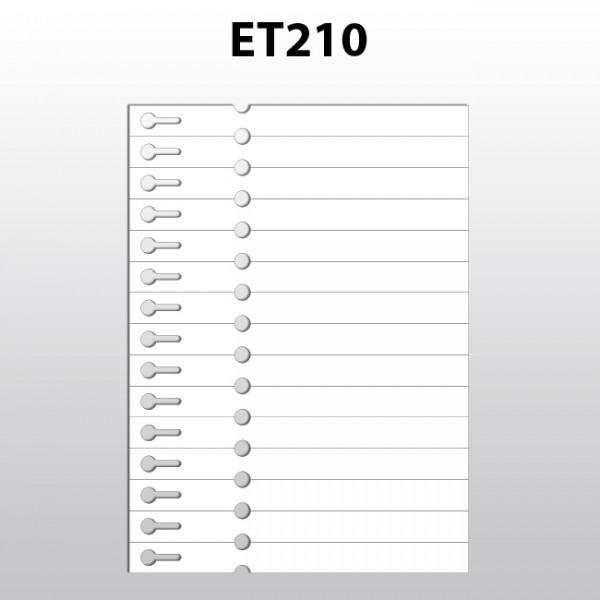 Schlaufenetiketten für Laserdrucker aus Polyester ET210