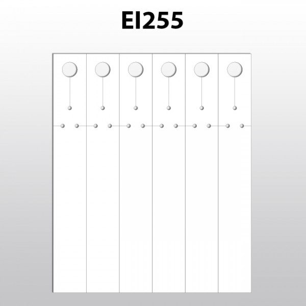 Schlaufenetiketten aus PET für Laserdrucker EI255