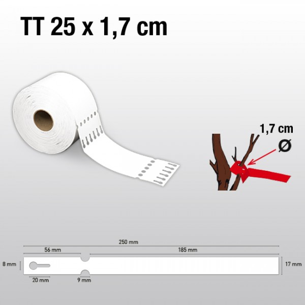Schlaufenetiketten für Thermotransferdrucker TT17250 HDPE 200µ